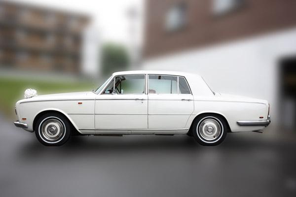 White 1969 Rolls Royce