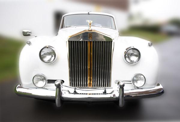 White Rolls Royce Antique